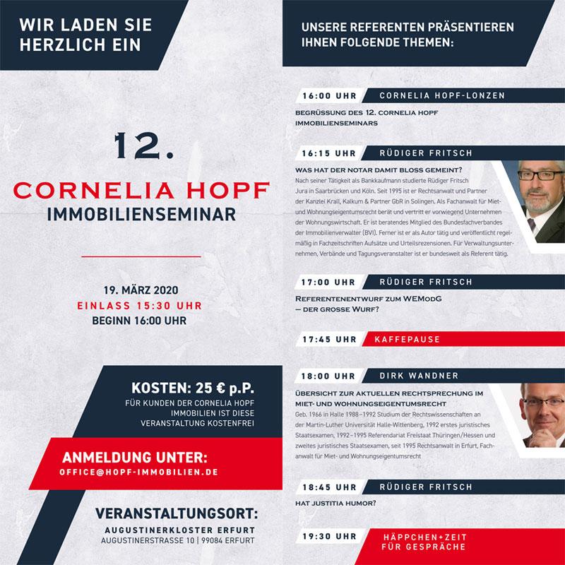 Anmeldung Immobilienseminar Cornelia Hopf Immobilien